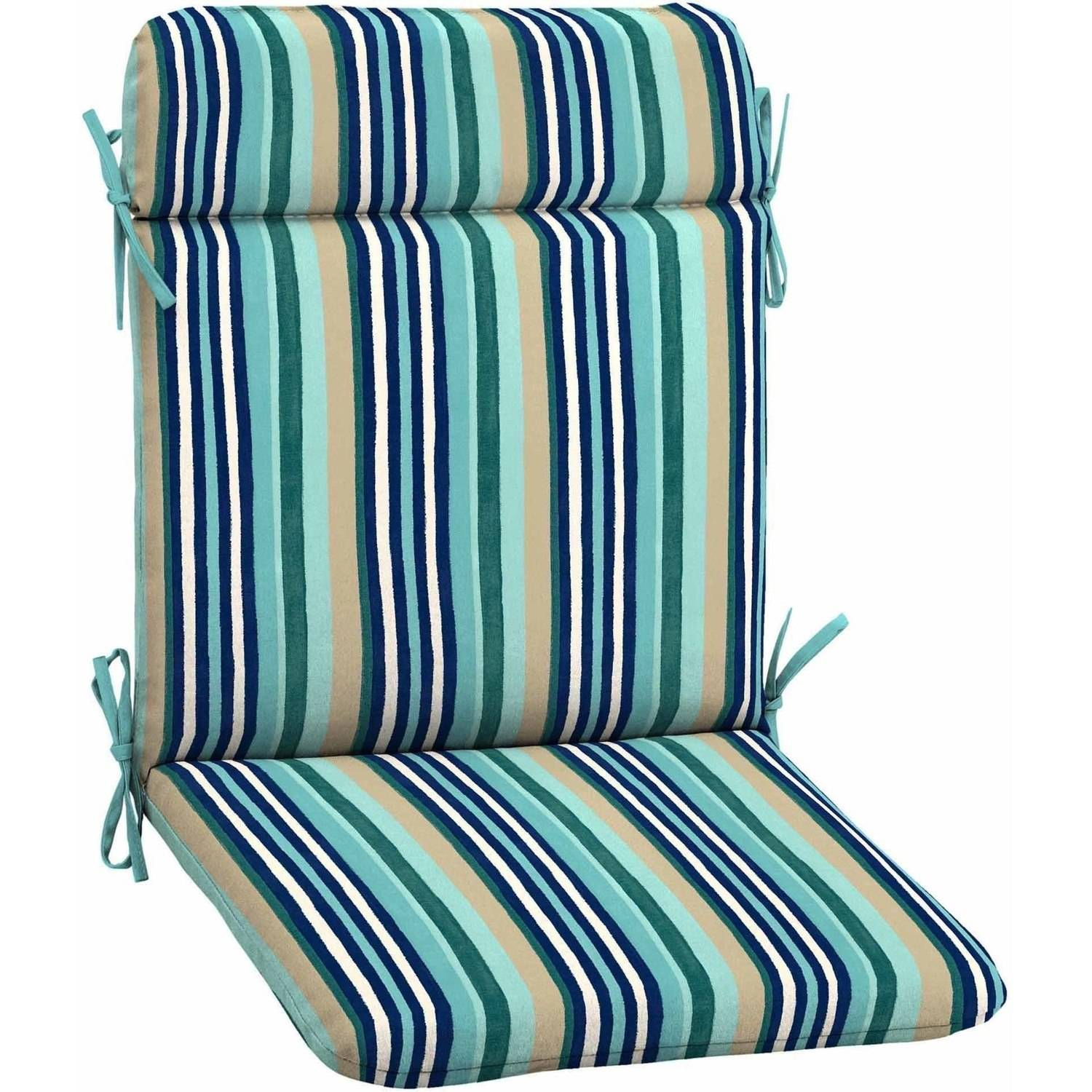 Mainstays Outdoor Patio Mid Back Chair Cushion, Multiple Patterns Available