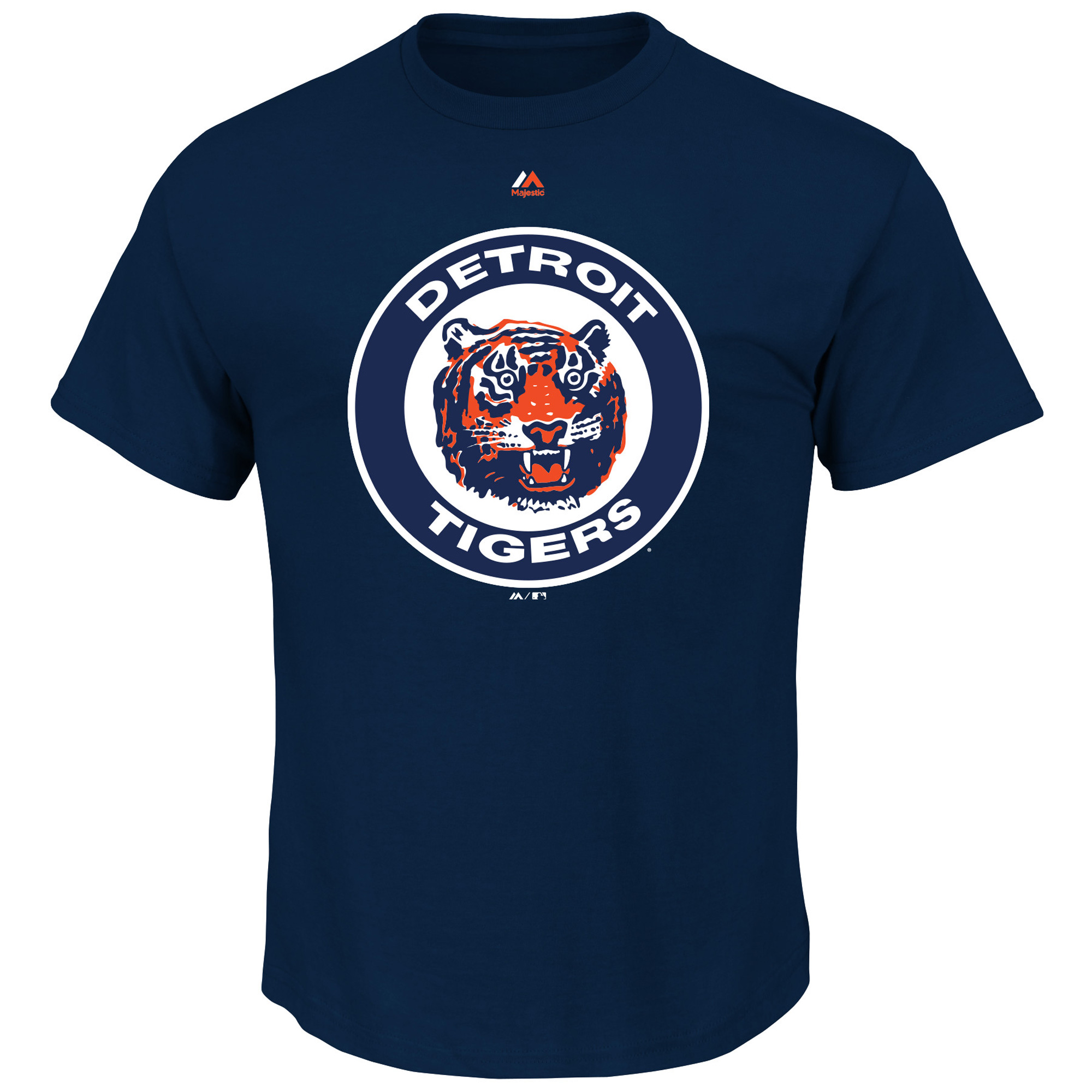 Detroit Tigers Majestic Big & Tall Cooperstown Logo T-Shirt - Navy