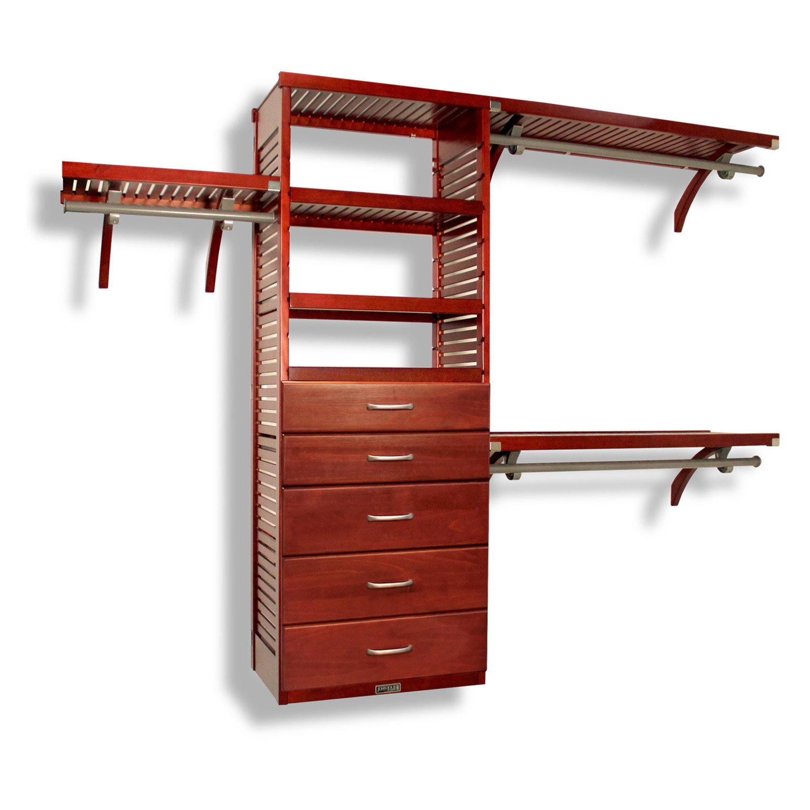 Deluxe Closet System Drawer Kit Red Mahogany