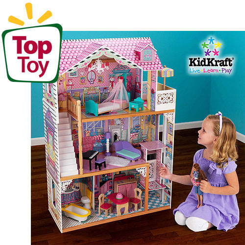 KidKraft Annabelle Wooden Dollhouse With 16 Pieces of Furniture