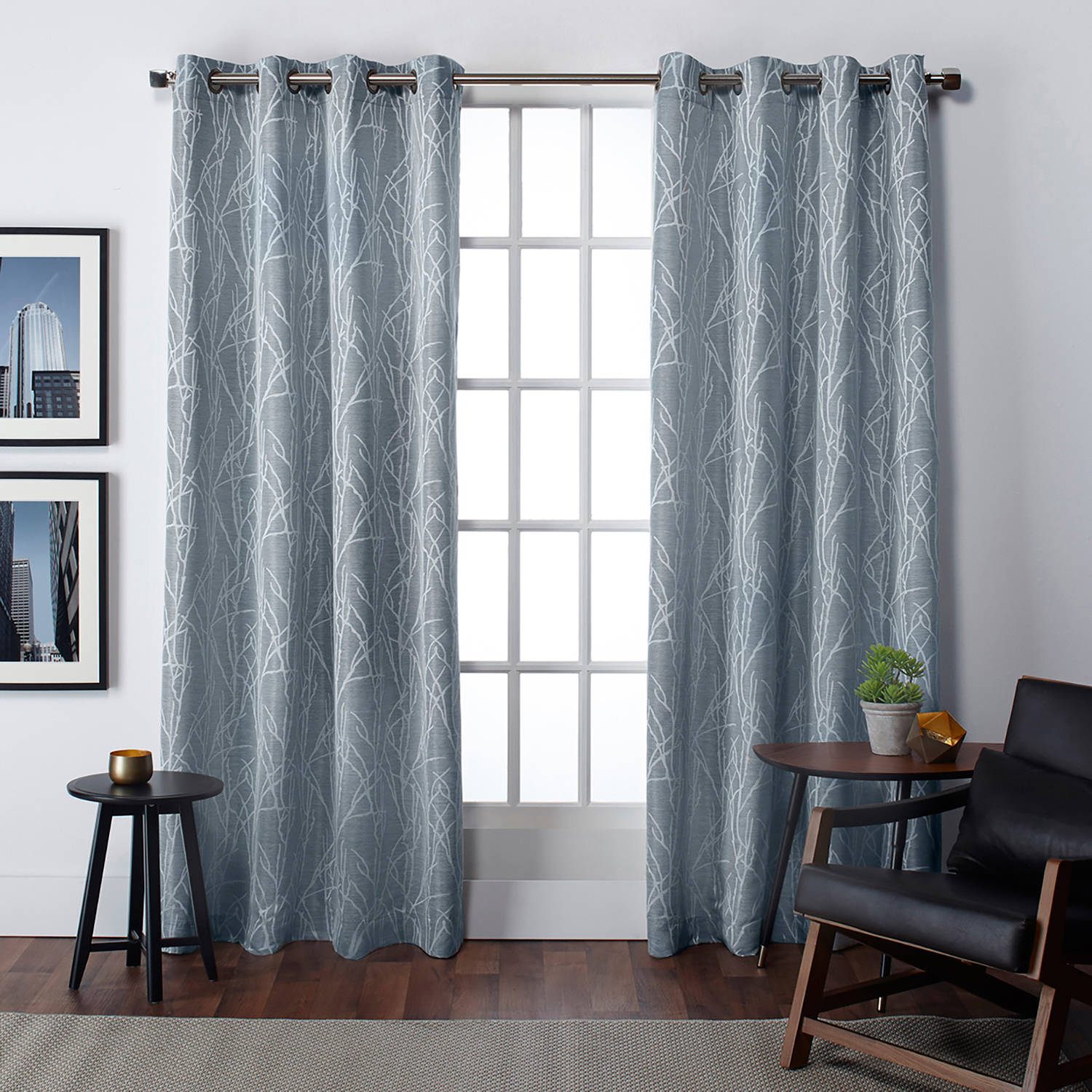 Exclusive Home Finesse Grommet Top Window Curtain Panel P...