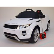 93746e197102 12V Electric Car Range Rover Evoque White Ride On For Kids With Remote  Control, LED