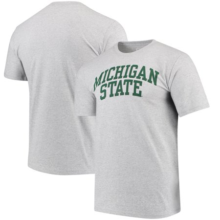 Michigan State Spartans Alta Gracia (Fair Trade) Arched Wordmark T-Shirt - Heathered Gray