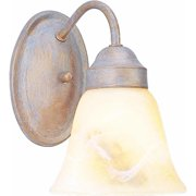 Volume Lighting V1671 1 Light Bathroom Sconce with Alabaster Glass Bell Shade