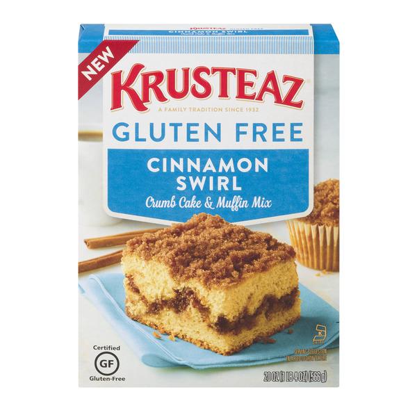 Krusteaz Gluten-Free Crumb Cake Mix, Cinnamon, 20 Ounce