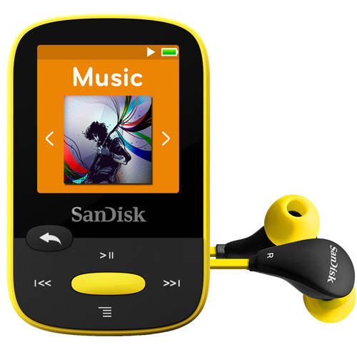 SanDisk Clip Sport 8GB MP3 Player, Yellow, SDMX24-008G
