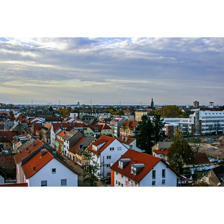 Canvas Print Rastatt City Building Road Over The Rooftops HDR Stretched Canvas 10 x 14 ()