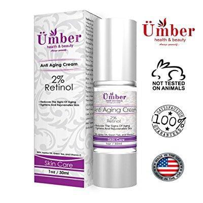 retinol anti-envejecimiento crema para la cara por  con retinol 2% vitamina C aceite de jojoba y de té verde 1 oz
