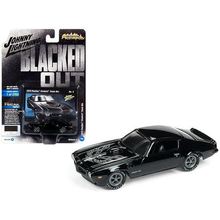 1973 Pontiac Firebird Trans Am Gloss Black w/ Silver Bird on Hood Ltd Ed 3700 pcs 1/64 Diecast by Johnny Lightning