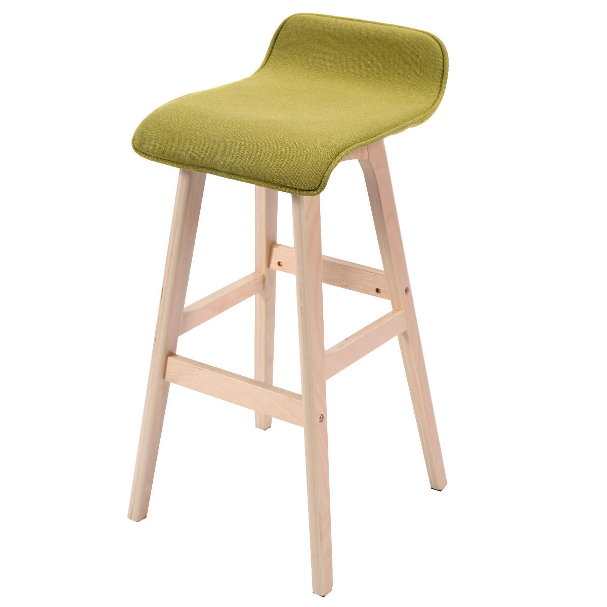 Costway 29 Inch Vintage Wood Bar Stool Dining Chair