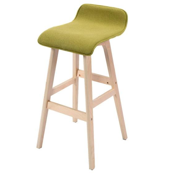 Set Of 2 29 Inch Vintage Wood Bar Stool Dining Chair: Costway 29-Inch Vintage Wood Bar Stool Dining Chair