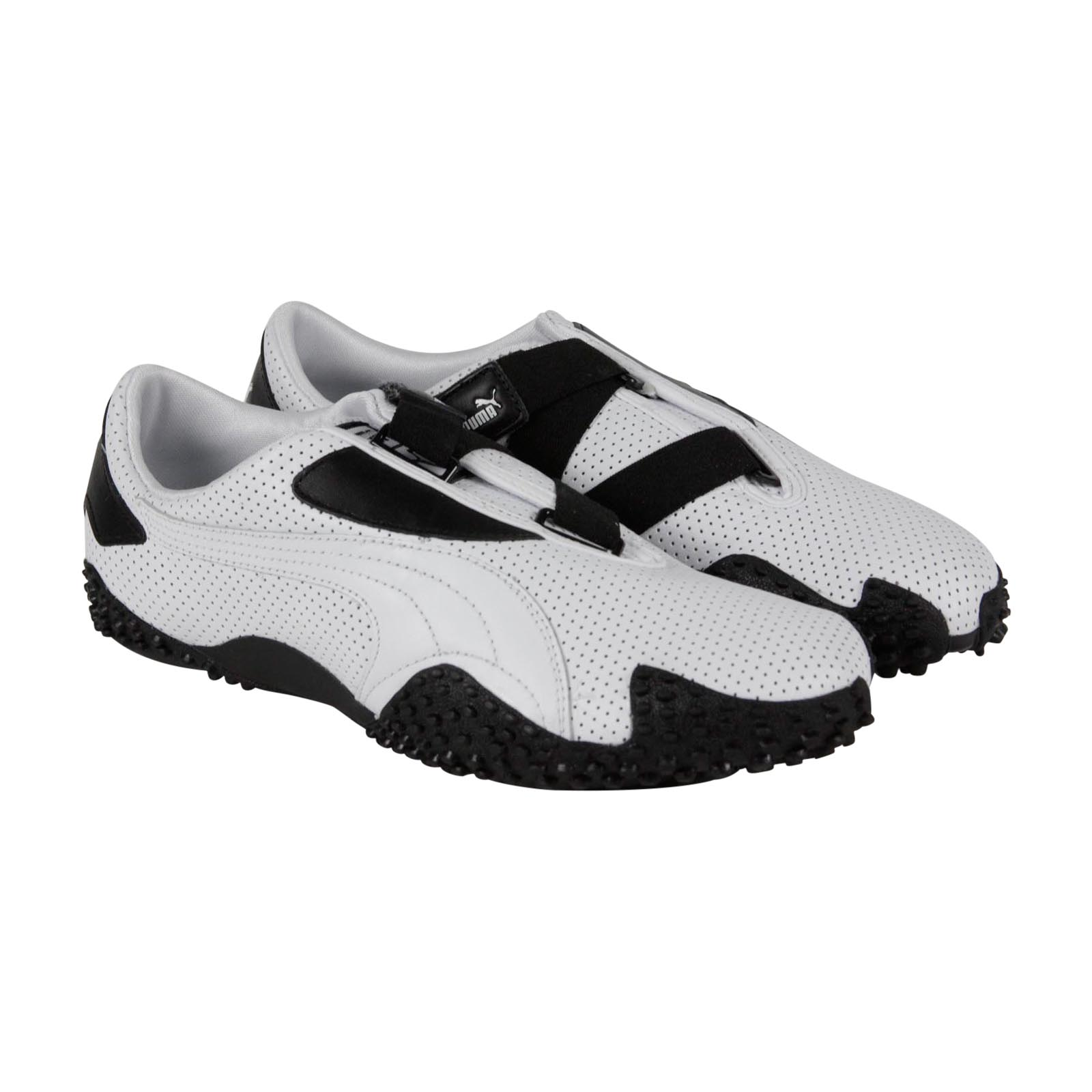 PUMA - Puma Mostro Perf Mens White Leather Strap Slip On Sneakers Shoes -  Walmart.com 8736b657d