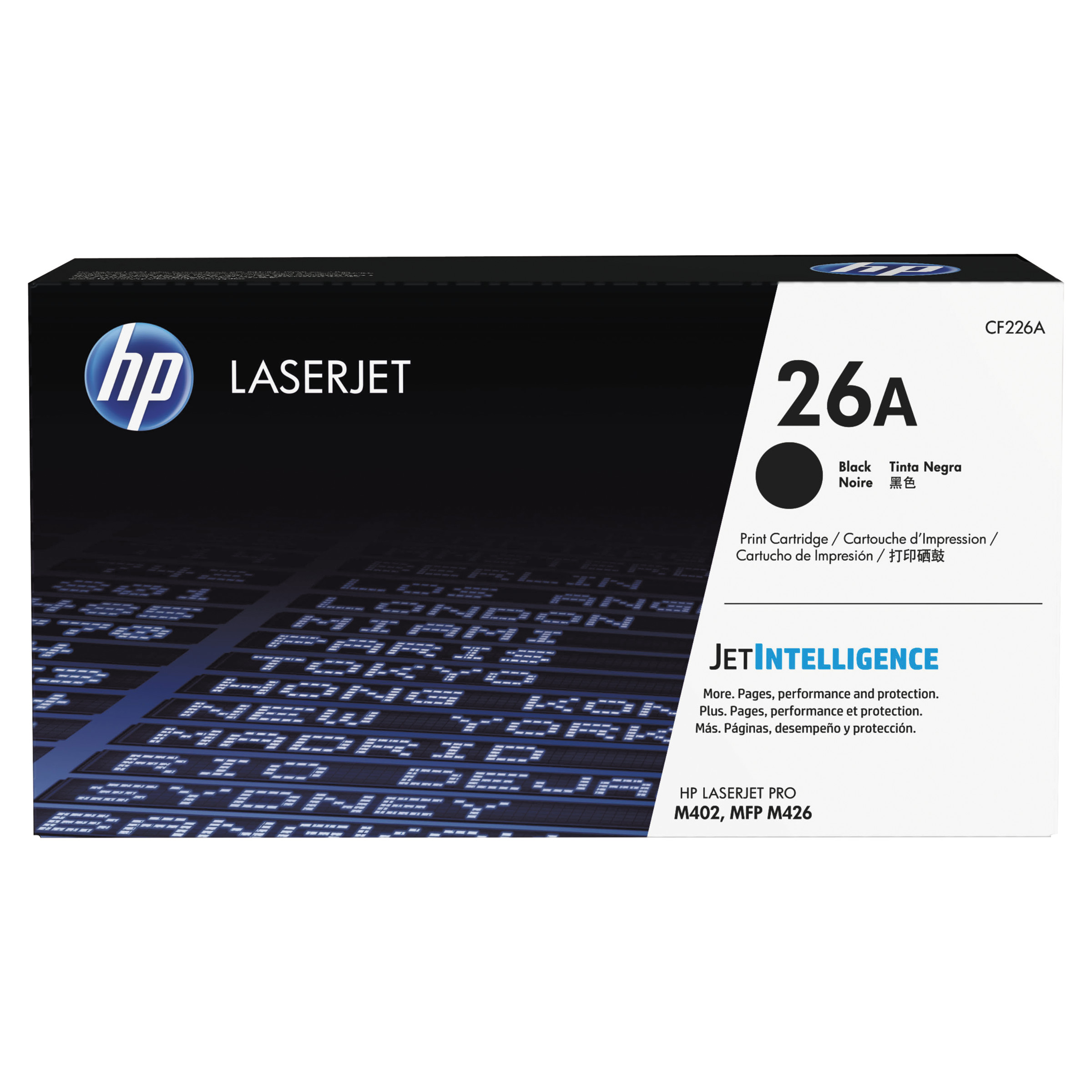 HP 26A, (CF226A) Black Original LaserJet Toner Cartridge -HEWCF226A