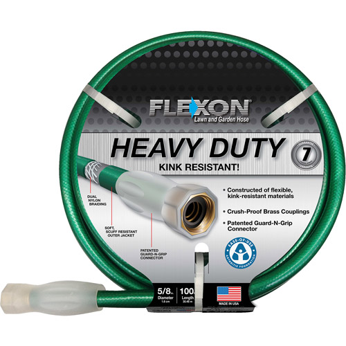 Flexon 100' Heavy-Duty Green Garden Hose
