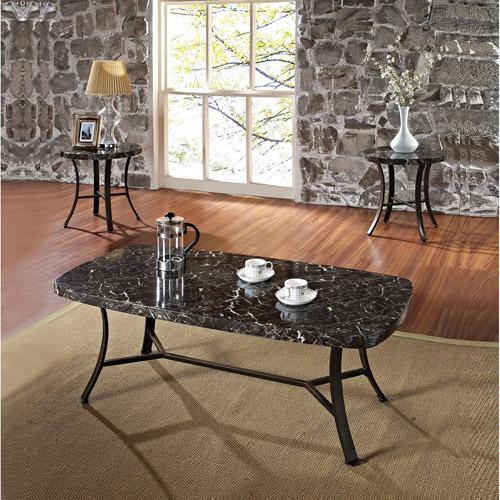 ashley casa mollino square coffee table in dark brown - walmart
