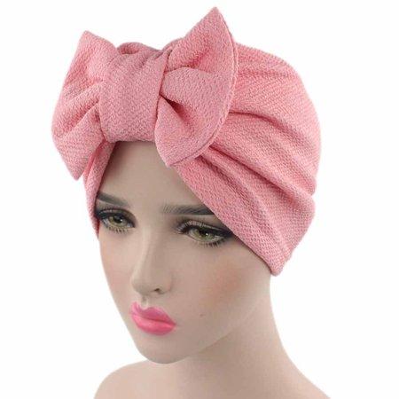 Iuhan - Iuhan Women Bow Cancer Chemo Hat Beanie Scarf Turban Head Wrap Cap  PK - Walmart.com 93ad5c12ef40
