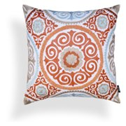 A1 Home Collections Harper Suzani Tangerine Pillow
