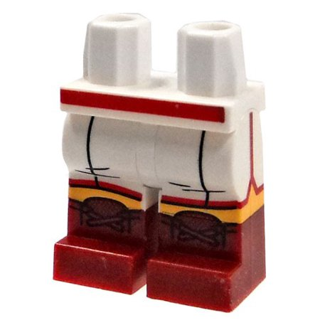 LEGO White Boxing Shorts with Dark Red Boots Loose Legs [Dual Color] (Lego Boxing)
