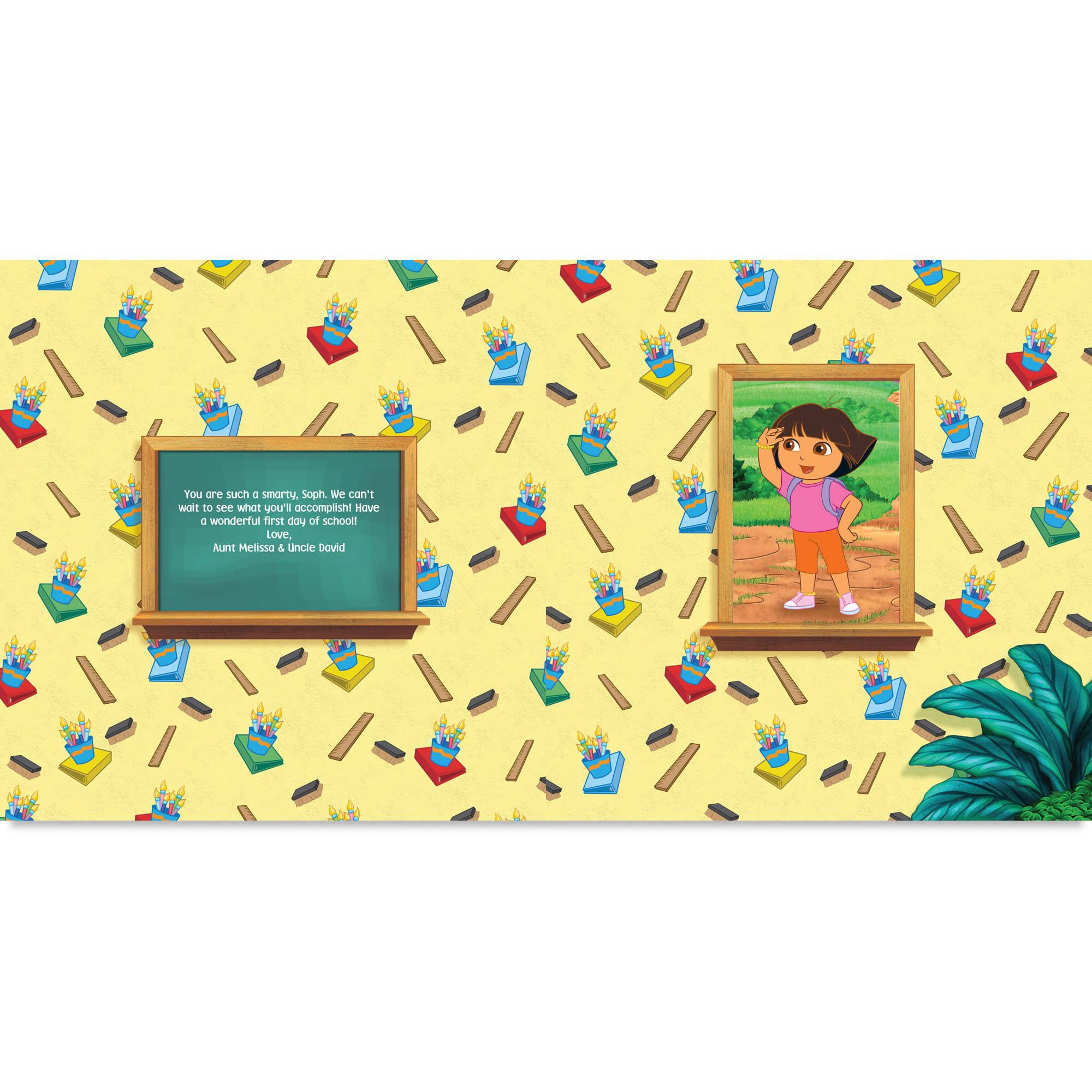 Personalized Book - Dora Goes to School - Walmart.com