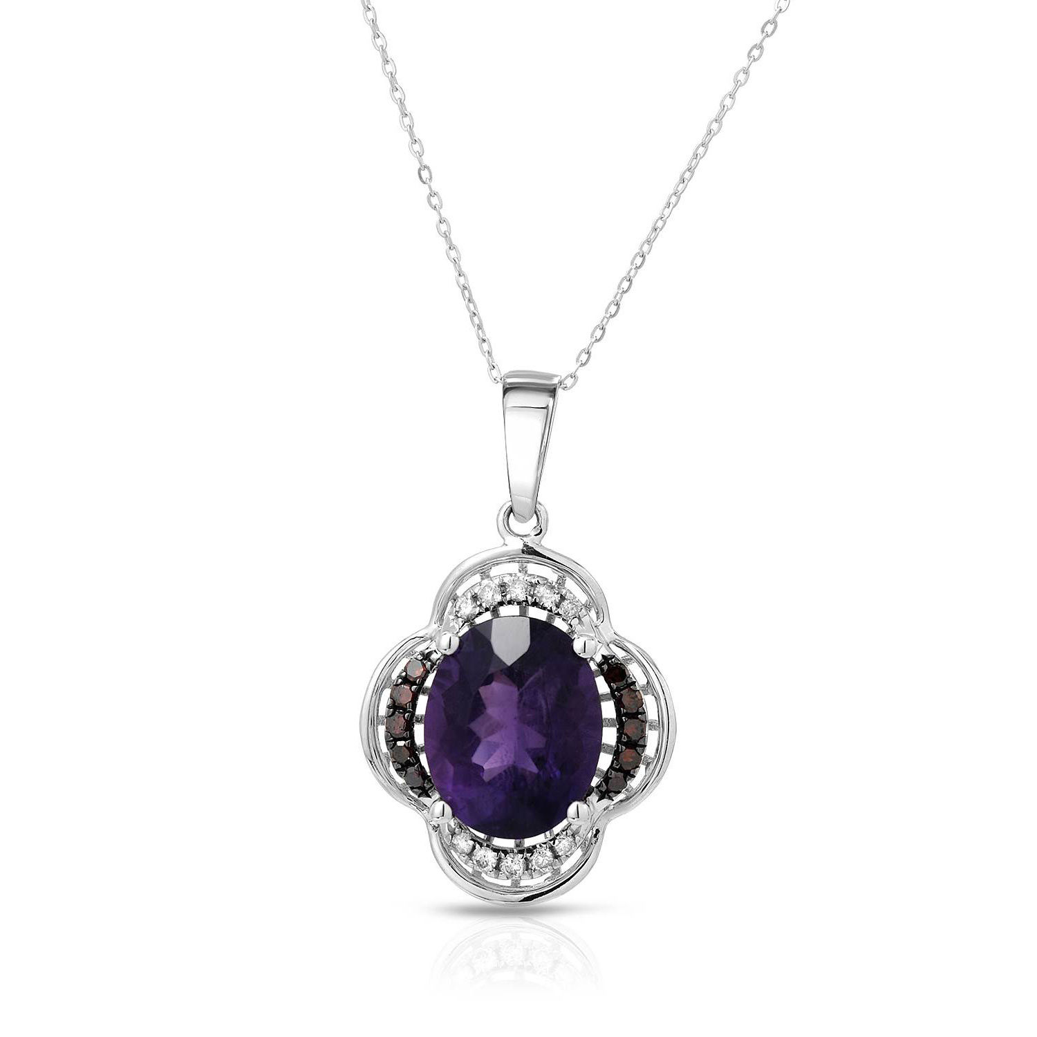 Fay Pay Jewels  14k Gold 2.62 CTW Amethyst Necklace