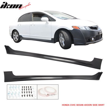 Fits 06-11 Honda Civic MU RR Style Side Skirts Unpainted - PP