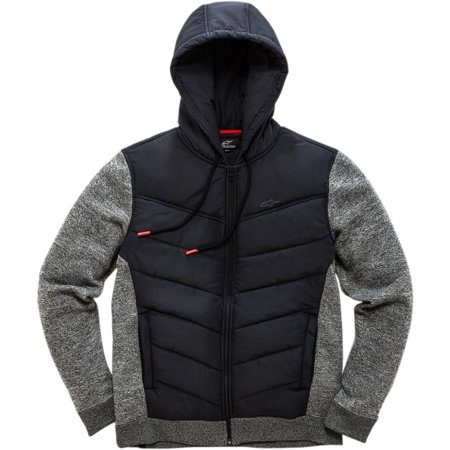 new product 11bc7 e3012 Alpinestars Men s Hybrid Jacket, Quilted Hood and Chest, Stretch, Boost Fleece  Black, S - Walmart.com