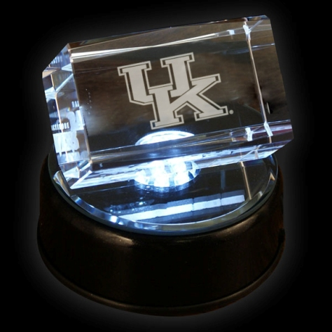 Kentucky Wildcats Prismatic Light Up 2x3'' Logo Crystal Cube w/Base
