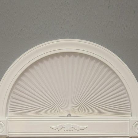 "Original Arch Light Blocking Pleated Fabric Shade, White, 72"" x 36"""