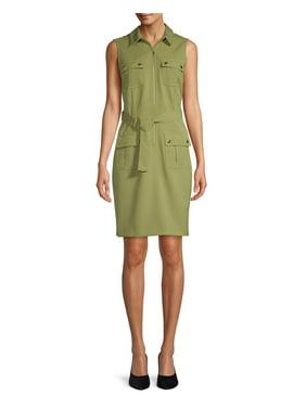 82c4a5f3d8050 Product Image Women's Sleeveless Utility Shirt Dress