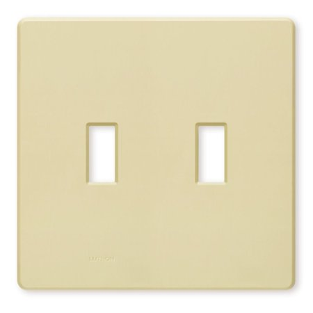 lutron fw 2 iv ivory two gang toggle light switch wall. Black Bedroom Furniture Sets. Home Design Ideas