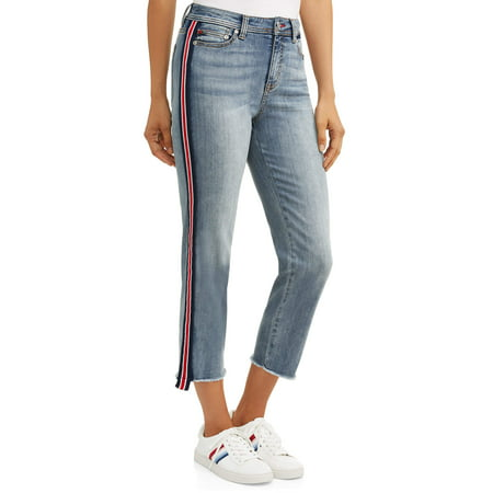 Cashmere Striped Jeans (Women's Maddy Jean with Side Stripe )