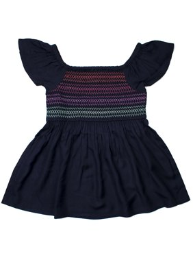 9bc0f5d2b Product Image Smocked Embroidered Challis Top (Little Girls & Big Girls)