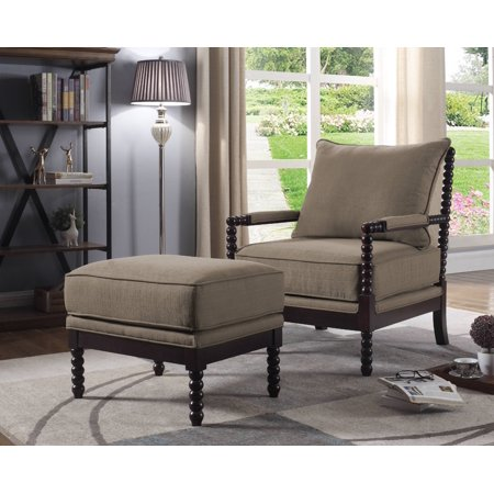 Best Master Furniture West Palm 2 Pcs Living Room Accent Chair With Ottoman