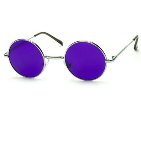 New John Lennon Style Vintage Round Circle Retro Classic Sunglasses Men Women (Round Mens Sunglasses)