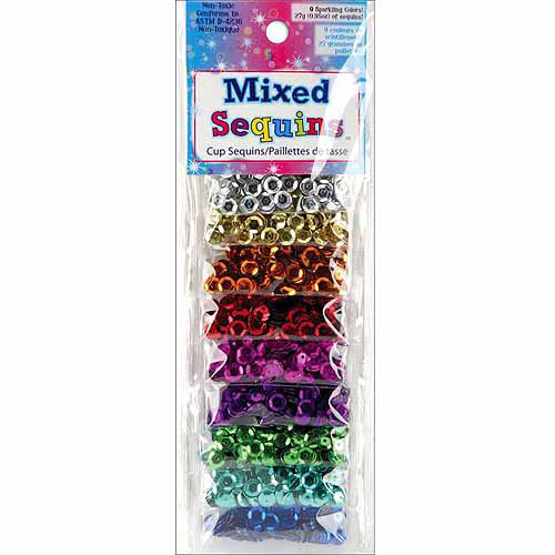 Mixed Sequins, Assorted Cups, 9pk