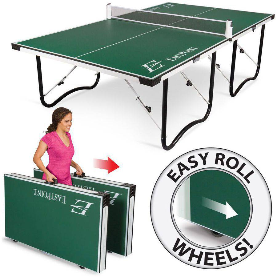 EastPoint Fold 'N Store Table Tennis Table, 15mm