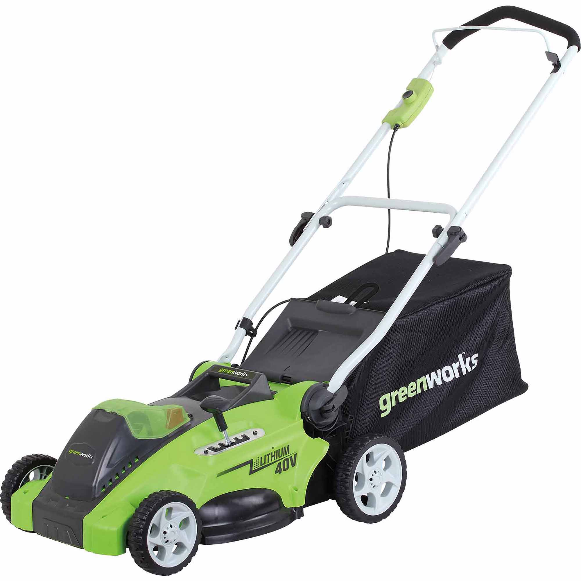 "GreenWorks G-MAX 40-Volt Cordless 16"" 2-in-1 Mower and 40-Volt 4AH Battery"