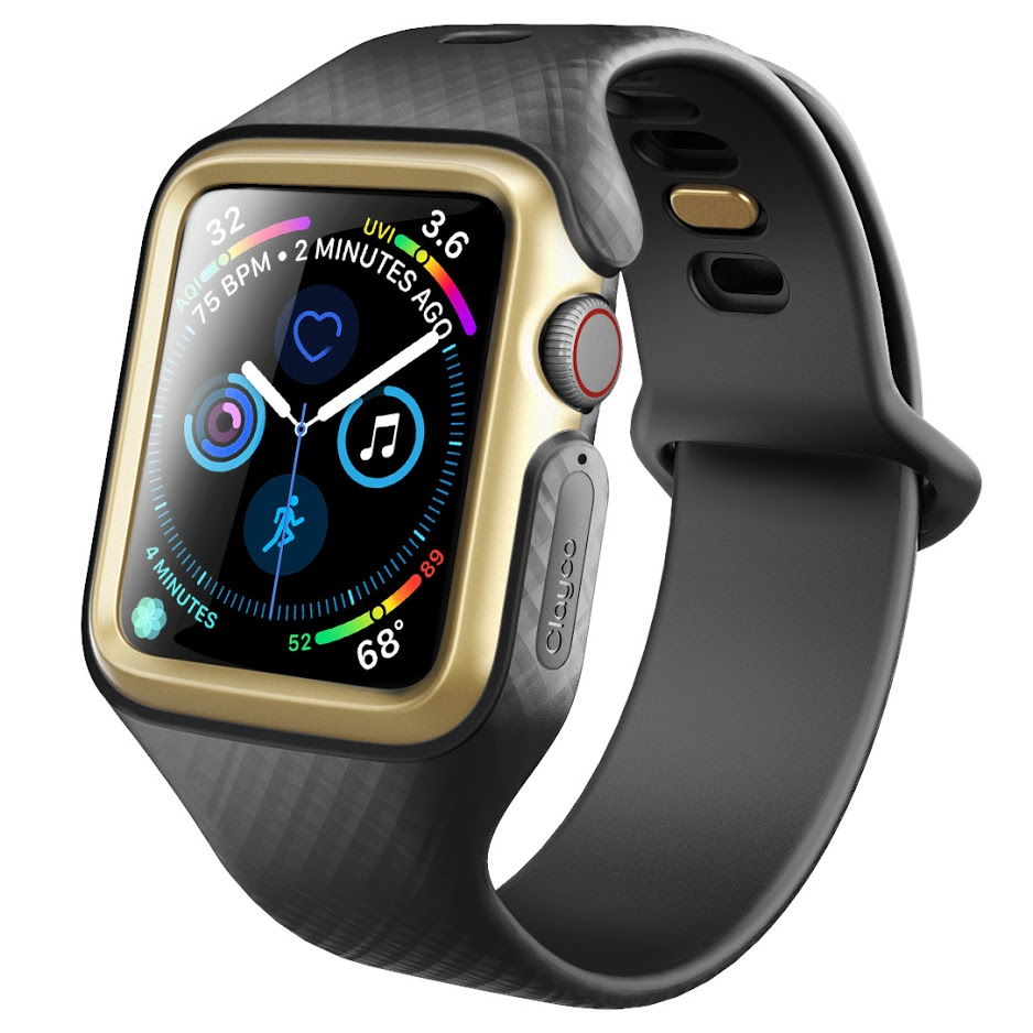 hot sale online 1e16e 81b7a Clayco Apple Watch 4 44mm Band Replacement 2018, [Hera Series] Shock  Resistant Ultra Slim Protective Bumper Case with Strap Bands for 44mm Apple  Watch ...
