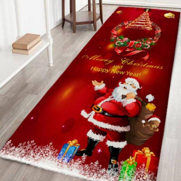 Christmas Anti Slip Area Rug Kitchen Home Room Floor Mat Decor Carpet Rug Walmart Com Walmart Com