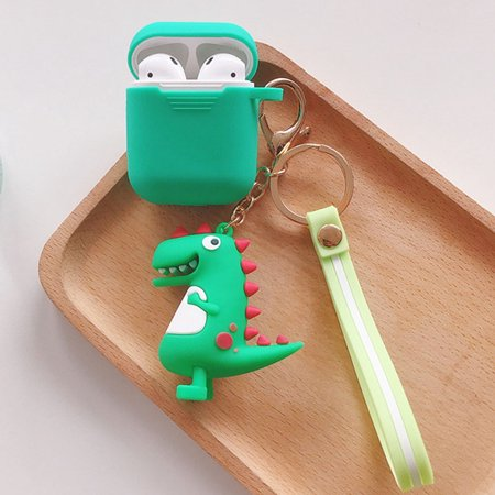 KABOER Airpods Case Cover With Keychain Cute Cartoon Dinosaur Pendant Silicone Case For Apple Airpods Accessories (Apple Airpods Is Not Included) KABOER Airpods Case Cover With Keychain Cute Cartoon Dinosaur Pendant Silicone Case For Apple Airpods Accessories (Apple Airpods Is Not Included)