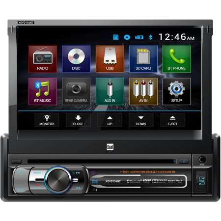 AM/FM/MP3/WMA DVD/CD Receiver, 50W x 4 with Front Panel 3.5