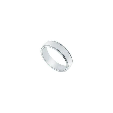 Platinum 5MM Comfort Fit Milgrain Wedding Band - image 2 de 2