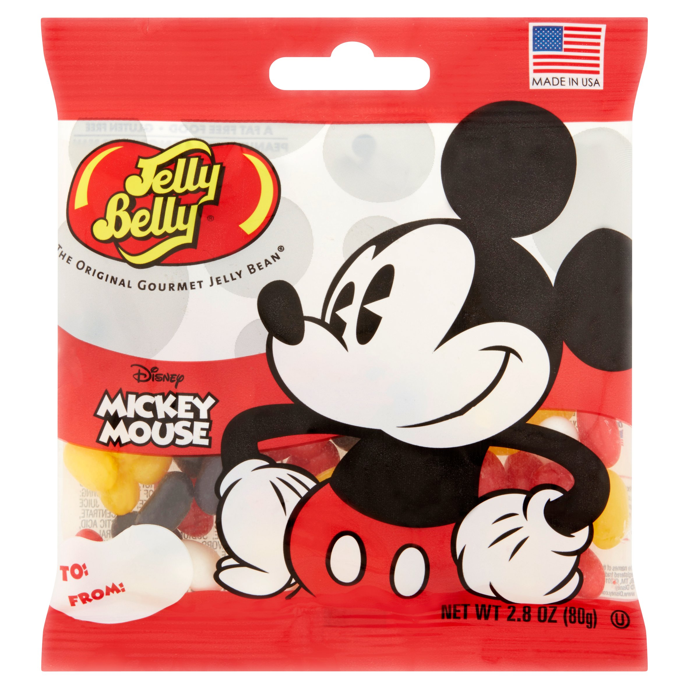 (10 Pack) Jelly Belly, Mickey Mouse Mickey Mouse Jelly Beans, 2.8 Oz