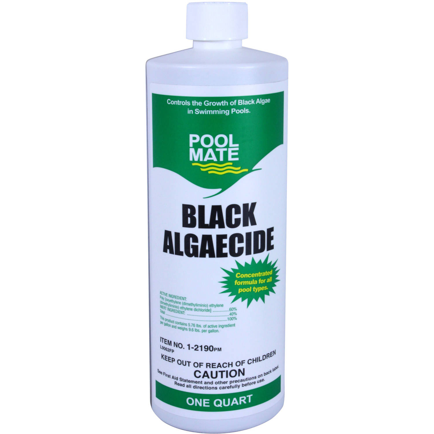 Pool Mate Black Algaecide for Swimming Pools, 1-Quart