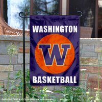 "Washington Huskies Basketball 13"" x 18"" College Garden Flag"