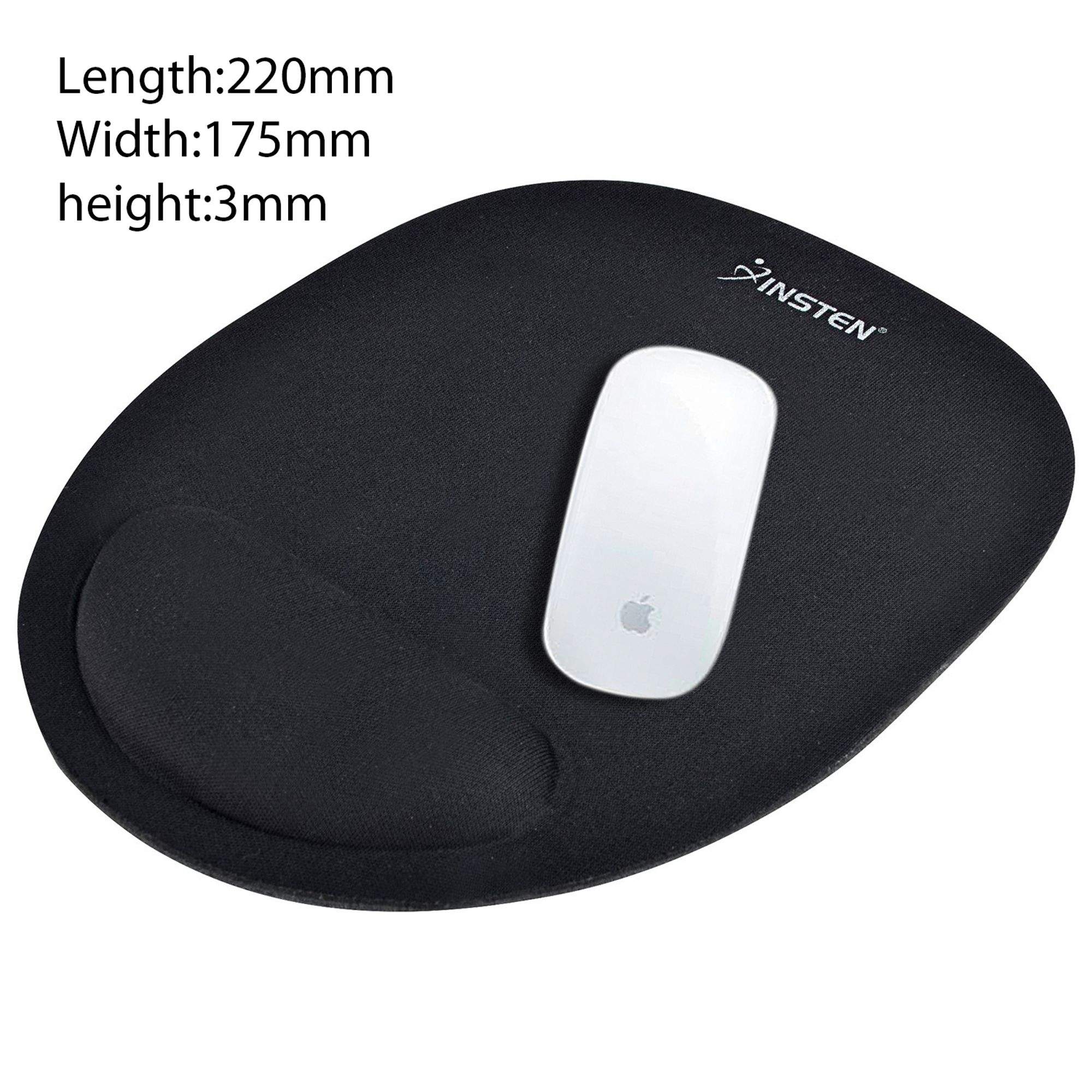 Insten 2 Pcs Wrist Rest Support Comfort Mouse Pad For Optical/ Trackball Mouse - Black