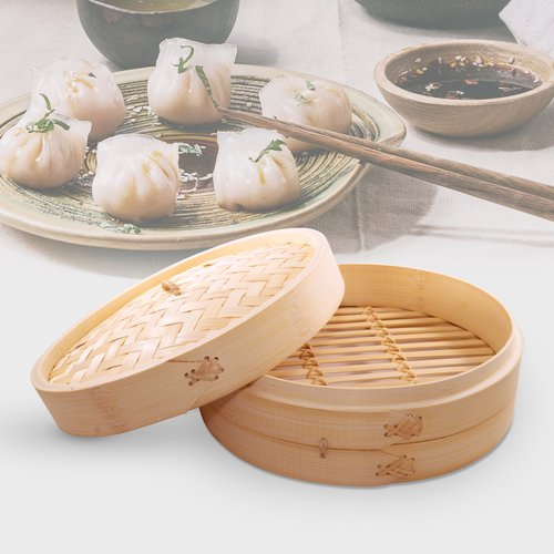 Cook Pro Asian Bamboo Steamer with Lid