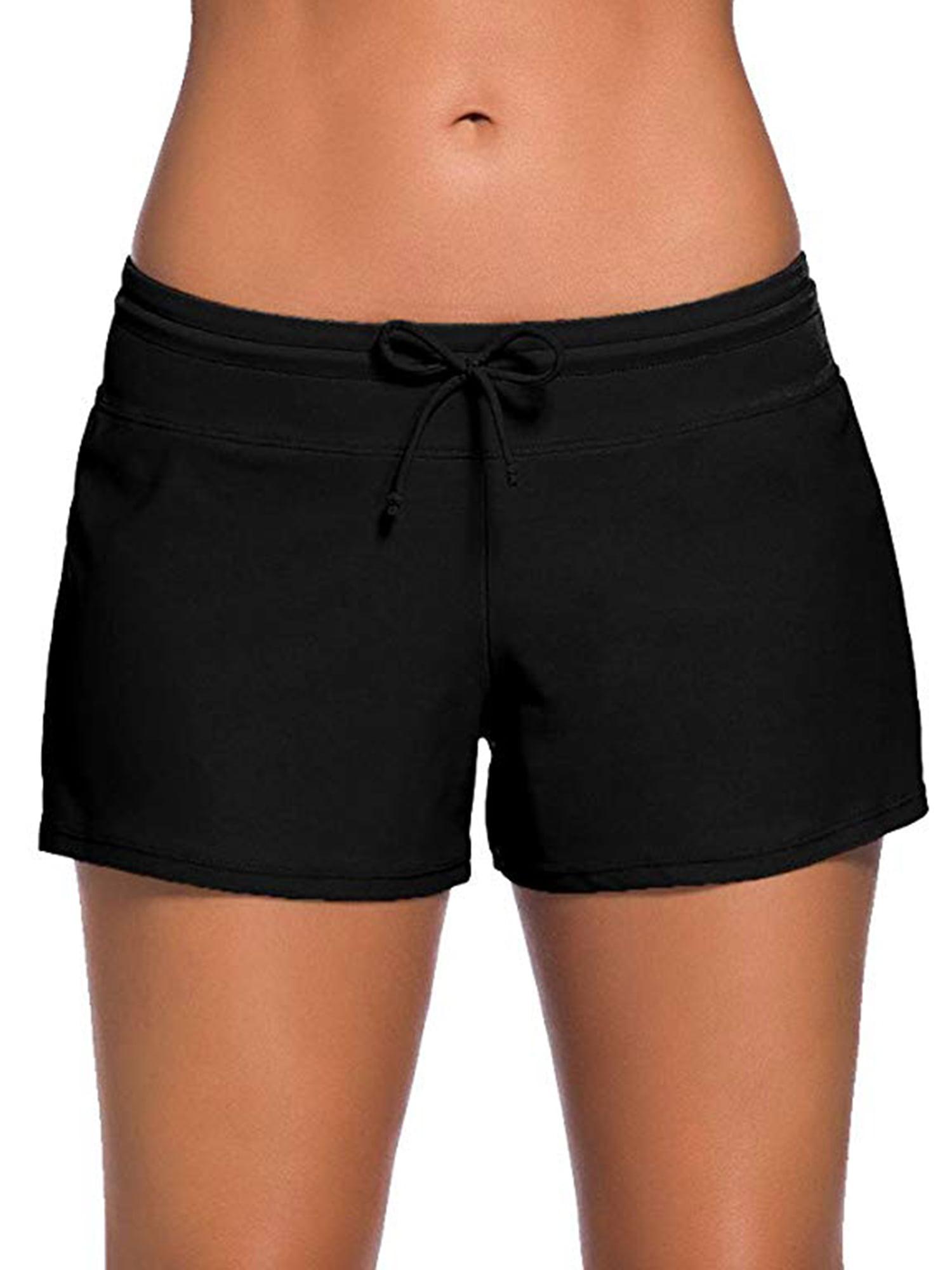 Kids Sportwear Quick Dry Solid Swimming Trunks Side Split Shorts