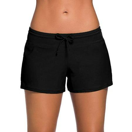 Plus Size Swimwear Bottom for women's Stretch Board Short Comfort Quick Dry Sport Athletic Swimwear Swim