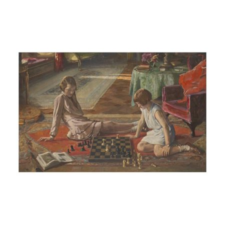 Chess Print (The Chess Players Print Wall Art By Sir John Lavery )